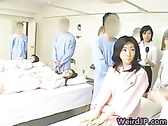 Asian wife is examining female workers part2