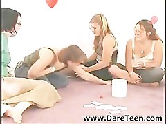 Guy undressing at truth or dare sexgame