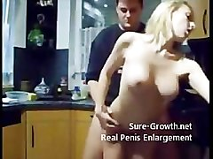 Young newly weds fuck in the kitchen