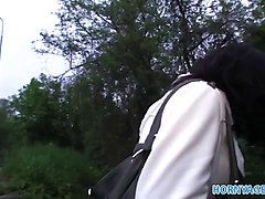 HornyAgent Outdoor blowjob and fucking with young Czech bab