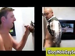 Straight guy sucked at a gloryhole