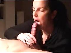 Catching mom sucking cock