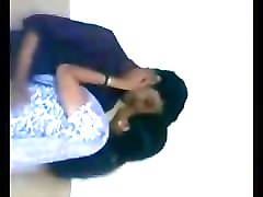 indian - college girl romance at bathroom