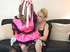 sissy satin maid cum by madame-c