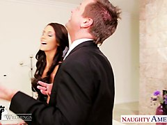 busty brunette whitney westgate riding cock at wedding