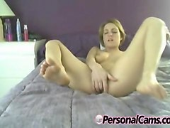 curvy brunette gets ass fucked by a dildo