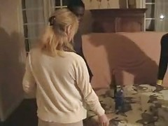 Blonde French Wife Gangbanged By Three Black Men. Hubby Films