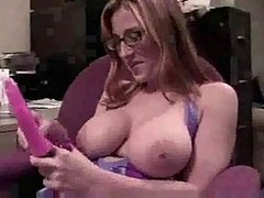 Busty Solo Bitch Plays With Her Toys