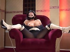 tape gagged & bound in boots bondage