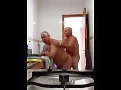 grandpa fuck in the kitchen