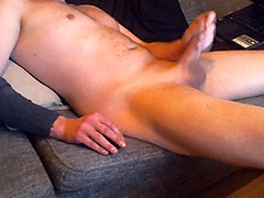 dutch shaved cock jerking and playing naked nudist