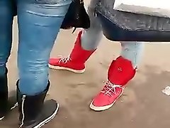 hot teen asses in tight jeans at bus stop