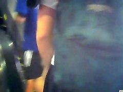 Приставание в автобусе скрытая камера16