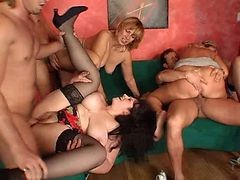 orgy anal stockings