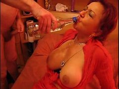 Mature Whore Forced Drinking And Sucking Cock!