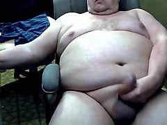 sexy grandpa stroke and cum on cam