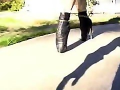 ballet boots training for 2 slave girls