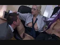 The Boss Lady Has A Bisexual Threesome By Troc