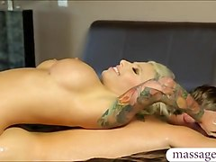 big boobs masseuse vyxen steel fucked and facialed by client