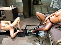 Crazy milf, fetish xxx movie with incredible pornstars Mellanie Monroe and Jessi Palmer from Fuckingmachines