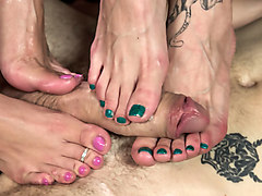 Exotic fetish porn video with incredible pornstars Wolf Hudson, London Keyes and Bella Rossi from Footworship
