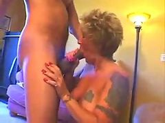Tattooed mature woman fucked