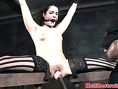 pantyhosed sex slave gets hardcore punishment