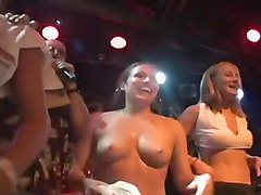 Hot Wet Amateur Strippers on Stage