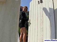 pissing euro les soaking glambabes with pee