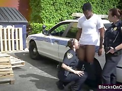 big black cock caught speeding by busty naughty police woman