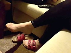 mother-in-law nylon feet