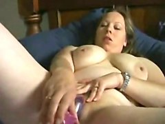 awesome bbw with sexy big boobies was totally absorbed with her solo