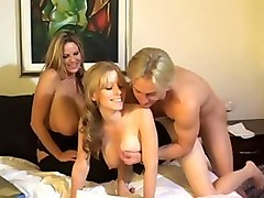 Best pornstars Kelly Madison and Laya Leighton in incredible dildos/toys, facial sex scene
