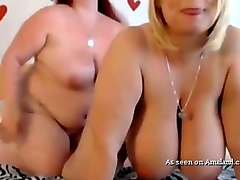 exquisite and appetizing webcam show from two lesbian bbws