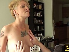 tattooed amateur sub analized by maledom