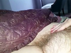 bbw granny plays with her hairy vagina in amateur video
