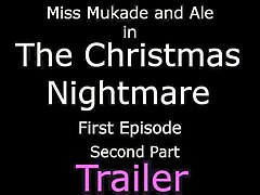 the christmas nightmare ep1 part 2- lady in red pantyhose