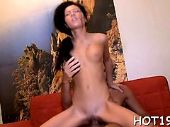 angel gets jizz on pussy after wild sex with stranger