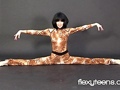 professional black-haired gymnast rina