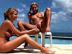 Zuzana   Carli All Girls All Shaved Peeing Party