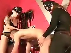 Two Mistress moving ass slave