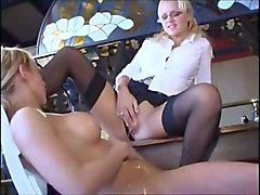 Girlfriends peeing golden piss on each other 2