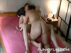 wife fuck near husband sleep