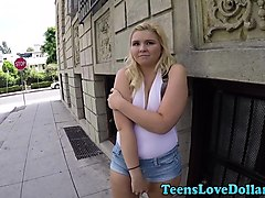 chubby teen paid to fuck