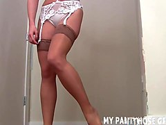 i feel so sexy in these silky pantyhose joi