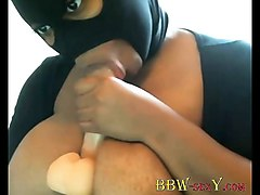 ebony blkonblack in mask with huge boobs bbw-sexy