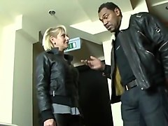 Mature blonde wife cheating husband with black man dick
