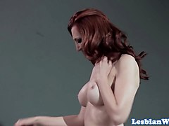 redhead les milf dominates sexslaves in group