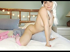 White hair hot babe webcam
