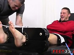 young white gay twink feet first time kenny tickled in a str